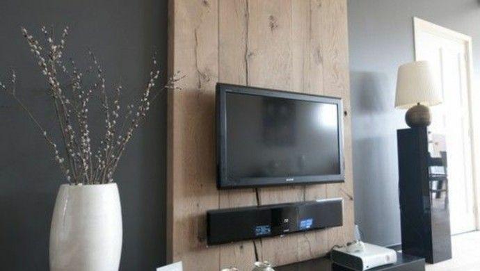 Moderne Wohnungseinrichtung Ideen Möbel TV Wohnwand Holz