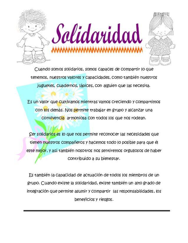 15 Ideas De Solidaridad Solidaridad Valor De La Solidaridad Frases De Solidaridad