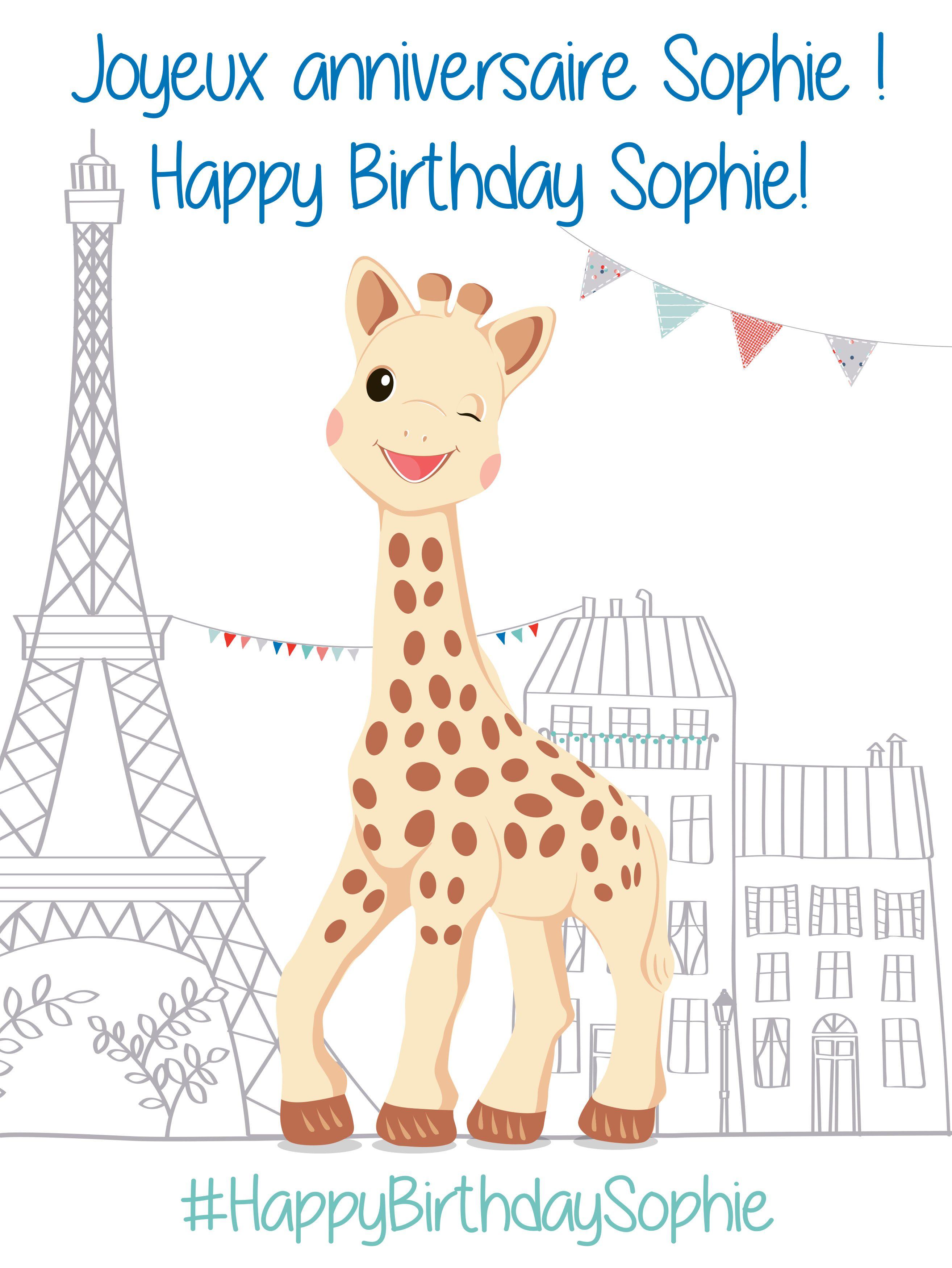 Happybirthdaysophie 54 Anniversary Sophie La Girafe En