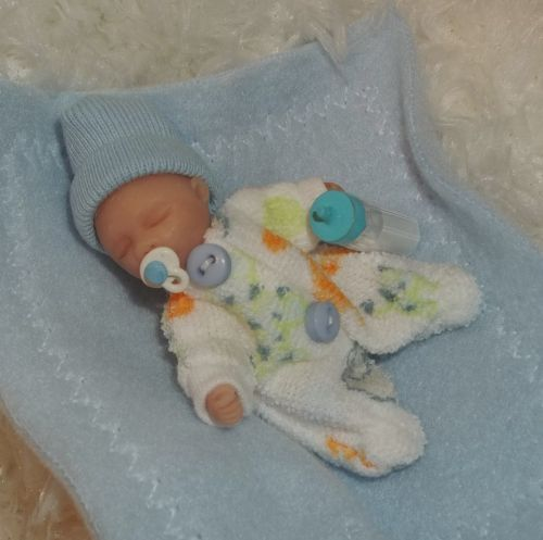Details About Ooak Clay Baby Boy 2 1 4 In Dollhouse