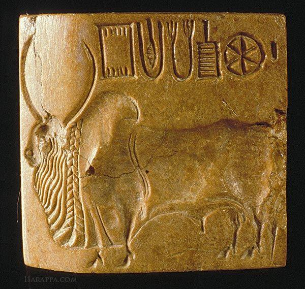 Bull Seal Harappa Mohenjo Daro Indus Valley Civilization