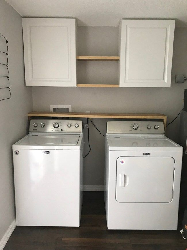 Laundry Room Storage Solutions Add Cabinets And Shelving Above Washer Dryer For Organization Laundryroom Farmhouse