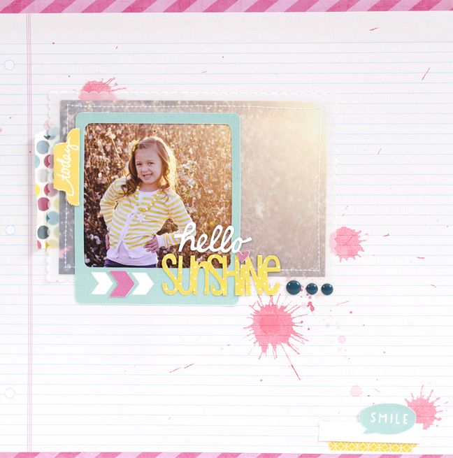 Silhouette Blog: Hello Sunshine Scrapbook Layout