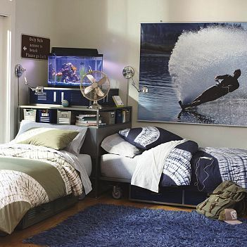 Pottery barn locker bed cool ideas for boys 39 rooms - Twin bed ideas for small bedroom ...