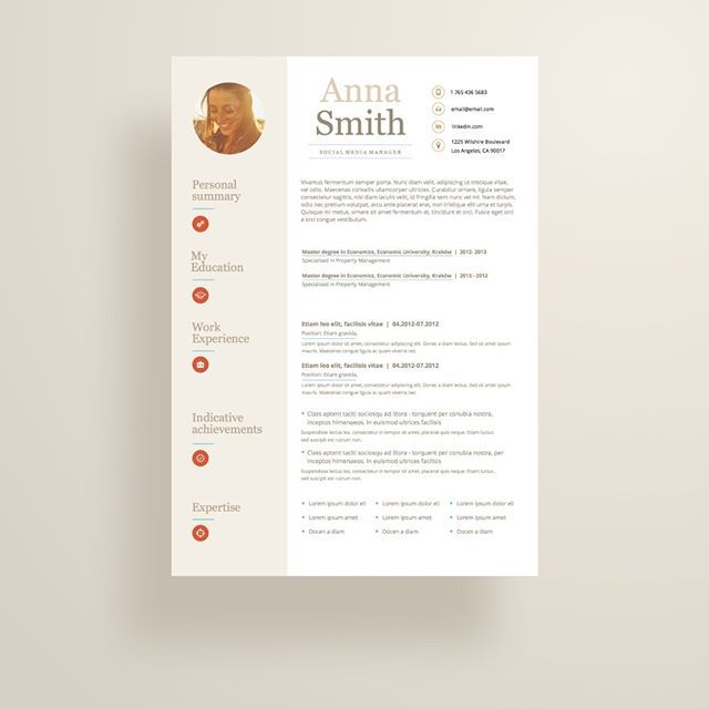 Creative and professional resume template in microsoft word  Cv with     Creative and professional resume template in microsoft word  Cv with modern  and clean design Day