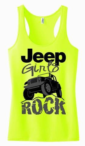 Jeep Girls Rock {Racerback Tank Top}