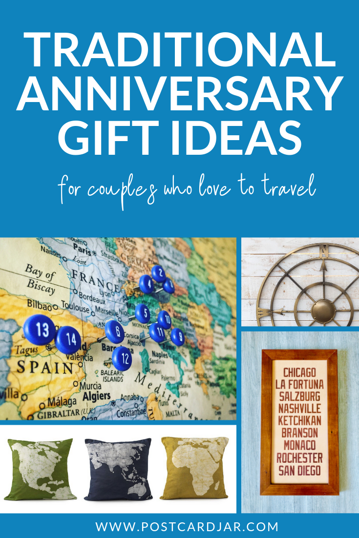 Traditional anniversary gift ideas for couples who love to