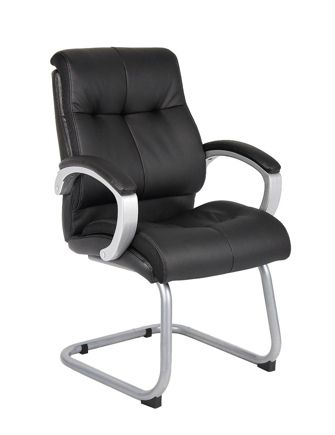 Boss Office Products B8779S BK Boss Double Plush Executive Guest Chair    Black
