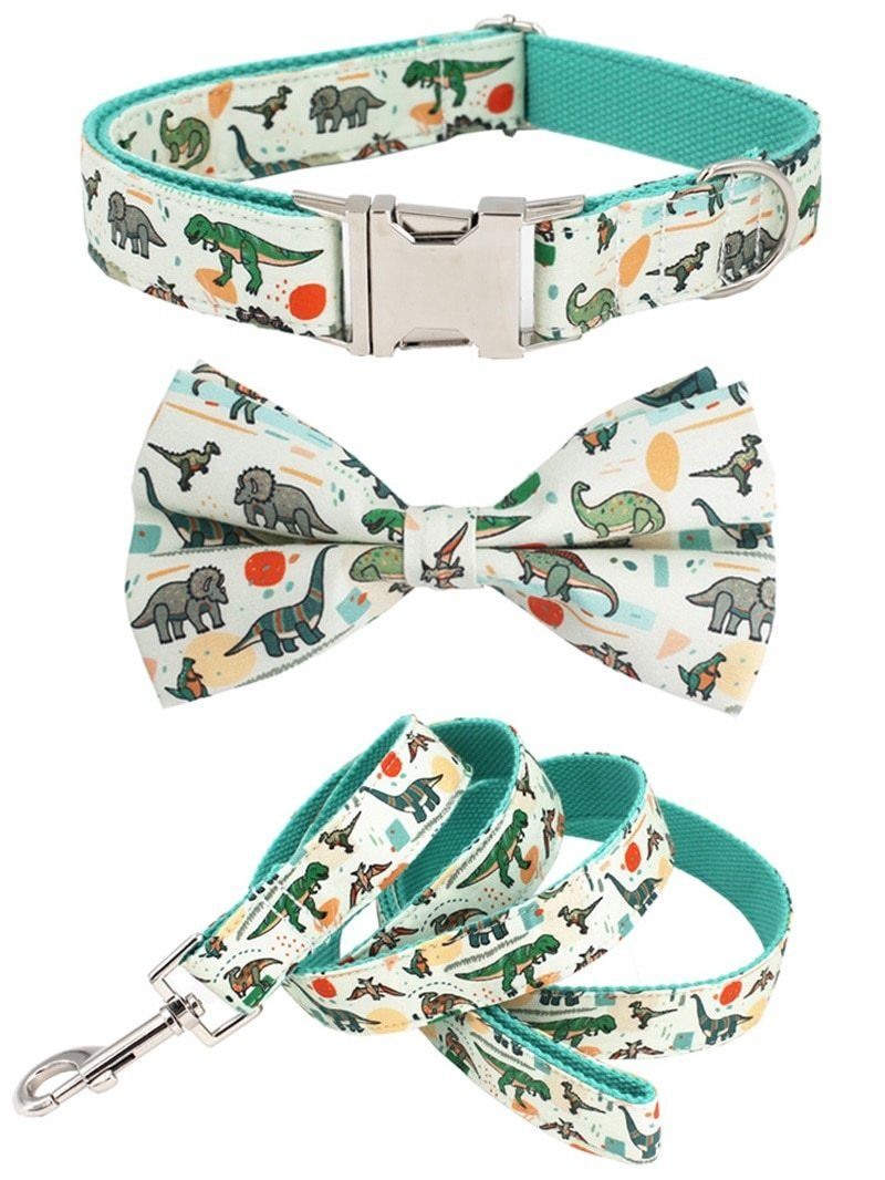 Dinosaur dog collar cute dog collars girl dog collars