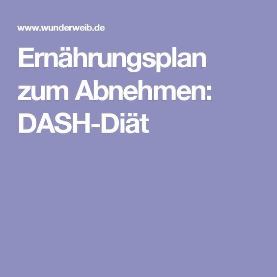 Ernährungsplan zum Abnehmen: DASH-Diät