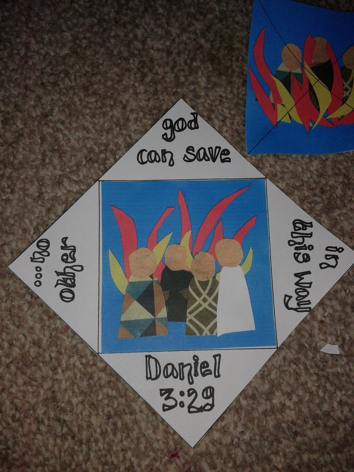 fiery furnace craft template google search bible class