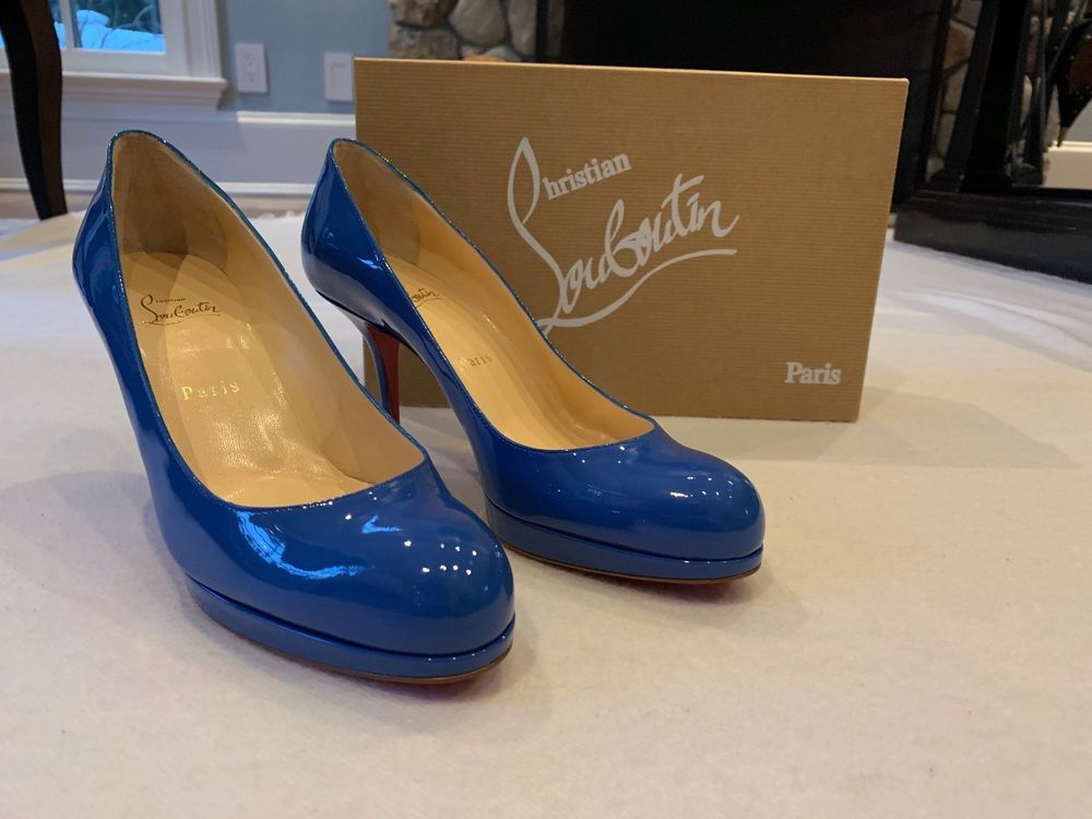 80947dc117b1 New Christian Louboutin 90mm Prorata Red Sole Pump Size 40 Glossy Royal Blue   fashion  clothing  shoes  accessories  womensshoes  heels (ebay link)