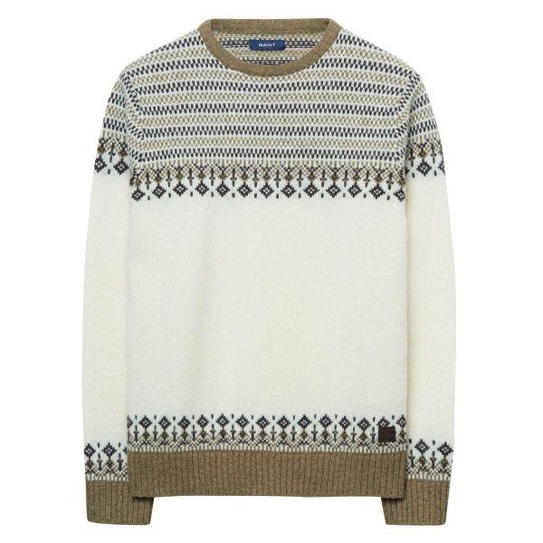 Lambswool Fair Isle Crew Sweater | Fairisle/Knit Patterns ...