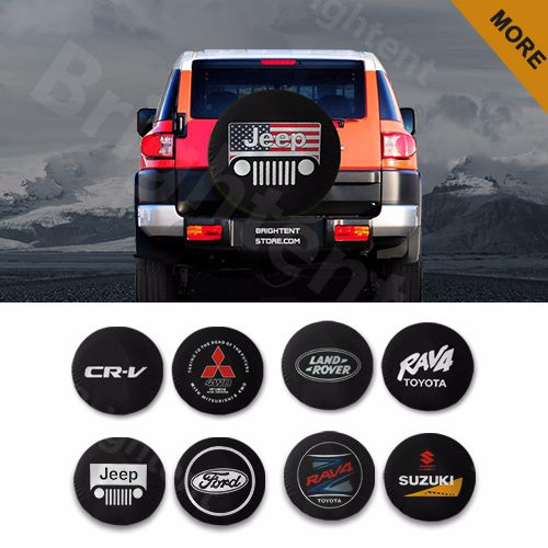 Custom Printing Spare Tire Cover Black Personalized Jeep Spare