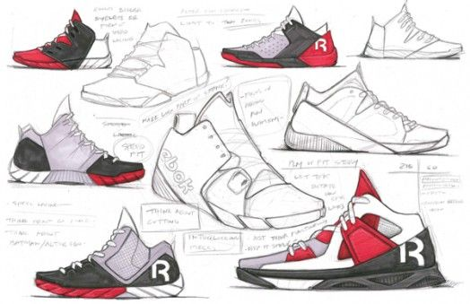 Reebok Concept Sketches Deep Dive Sneakers Sketch Shoe