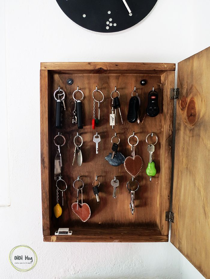 Diy Key Holder Box Ohoh Deco Key Holder Diy Key Rack Diy Key Organizer