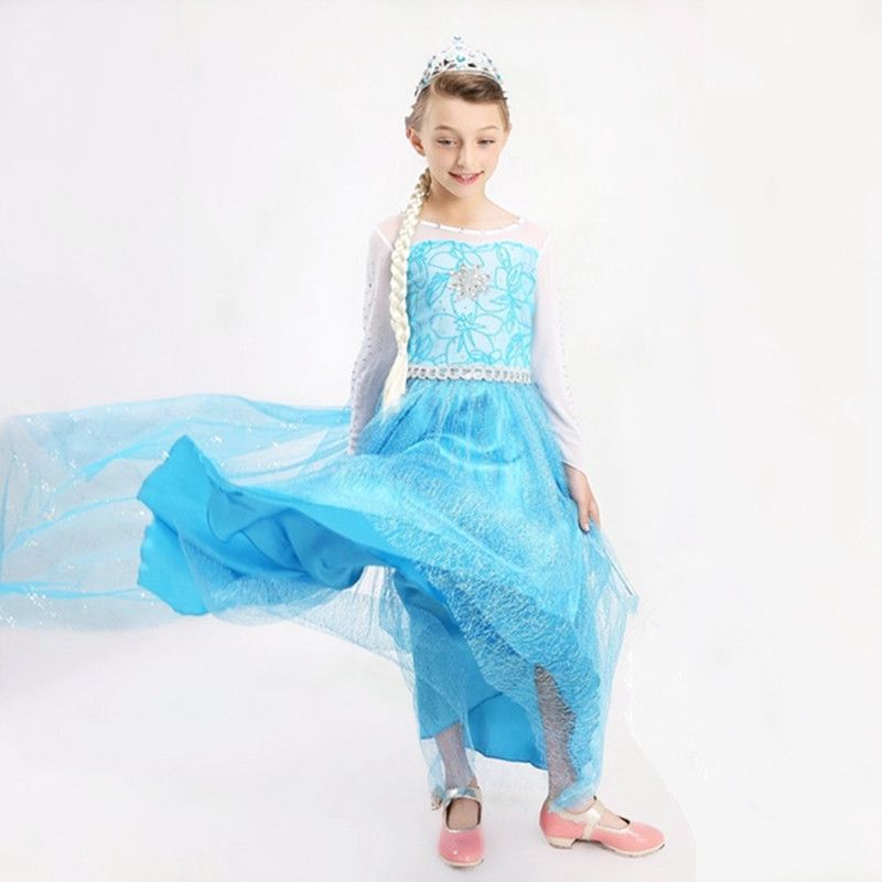 >> Click to Buy << High Quality 3-12T Christmas Girl Dress New Elsa Long Queen Princess Dress Spring Autumn Kids Baby Girl Costume Party 2015 brand #Affiliate