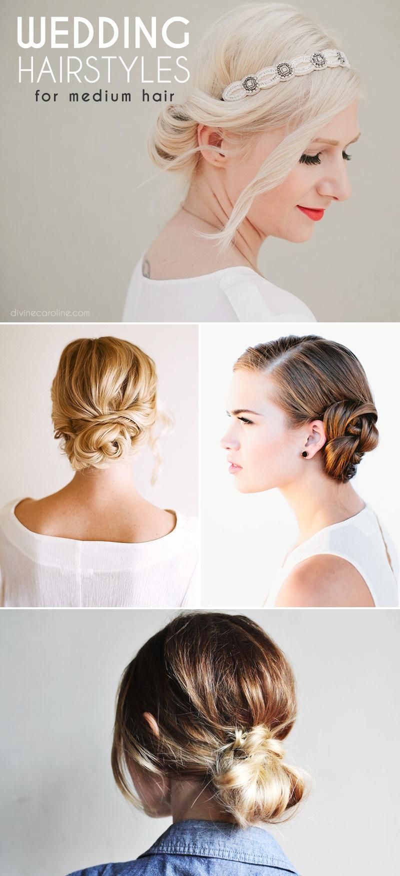Stunning Wedding Hairstyles for Medium-Length Hair | Medium length ...