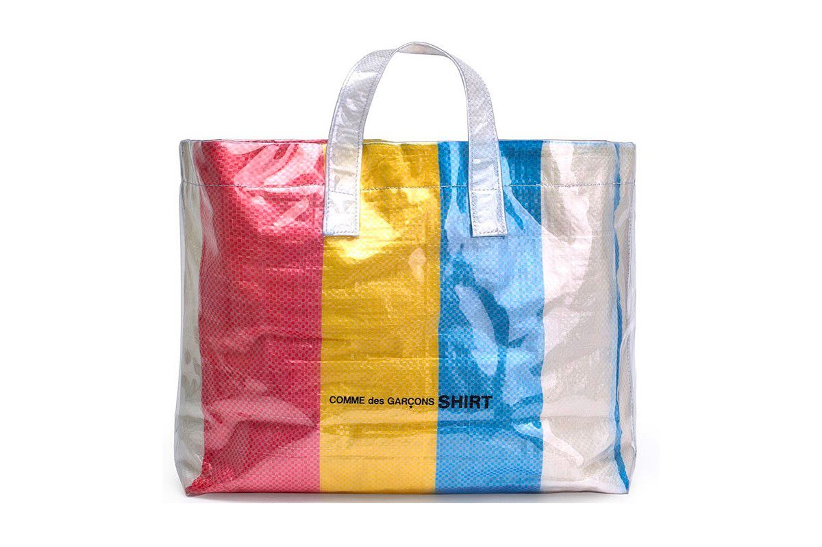 Comme Des Garcons New Plastic Laundry Bag Is Clearly Going To Be A Hit Bags Tote Bag Fun Bags