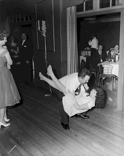Couple Dancing, 9 Darling Street, South Yarra, Victoria, 04 Sep 1959