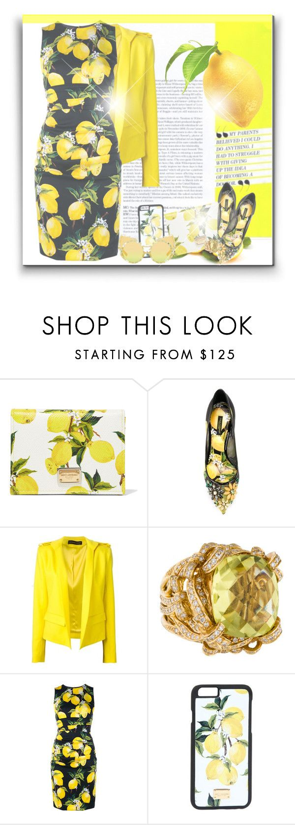"""""""Dress BEYONCE:"""" Lemonade anyone?"""""""" by byjjbh ❤ liked on Polyvore featuring Dolce&Gabbana, Alexandre Vauthier, yellow, Beyonce and lemonade"""