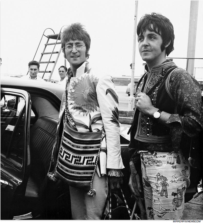 July 1967 John Lennon And Paul Mccartney Arrive In London