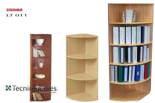 Librero esquinero redondo costa rica muebles de oficina for Mueble esquinero de melamina