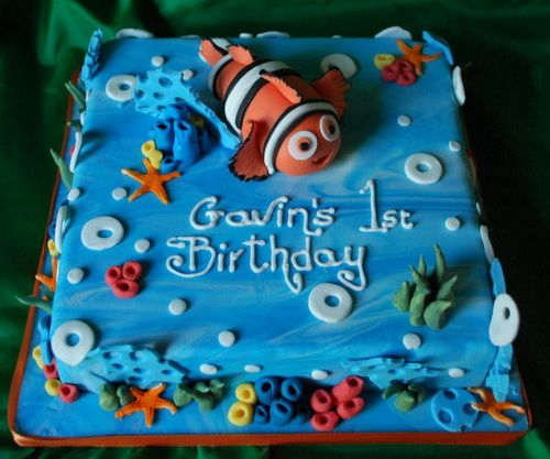 finding nemo cake for birthday Kids Birthday Cake Ideas Cakes