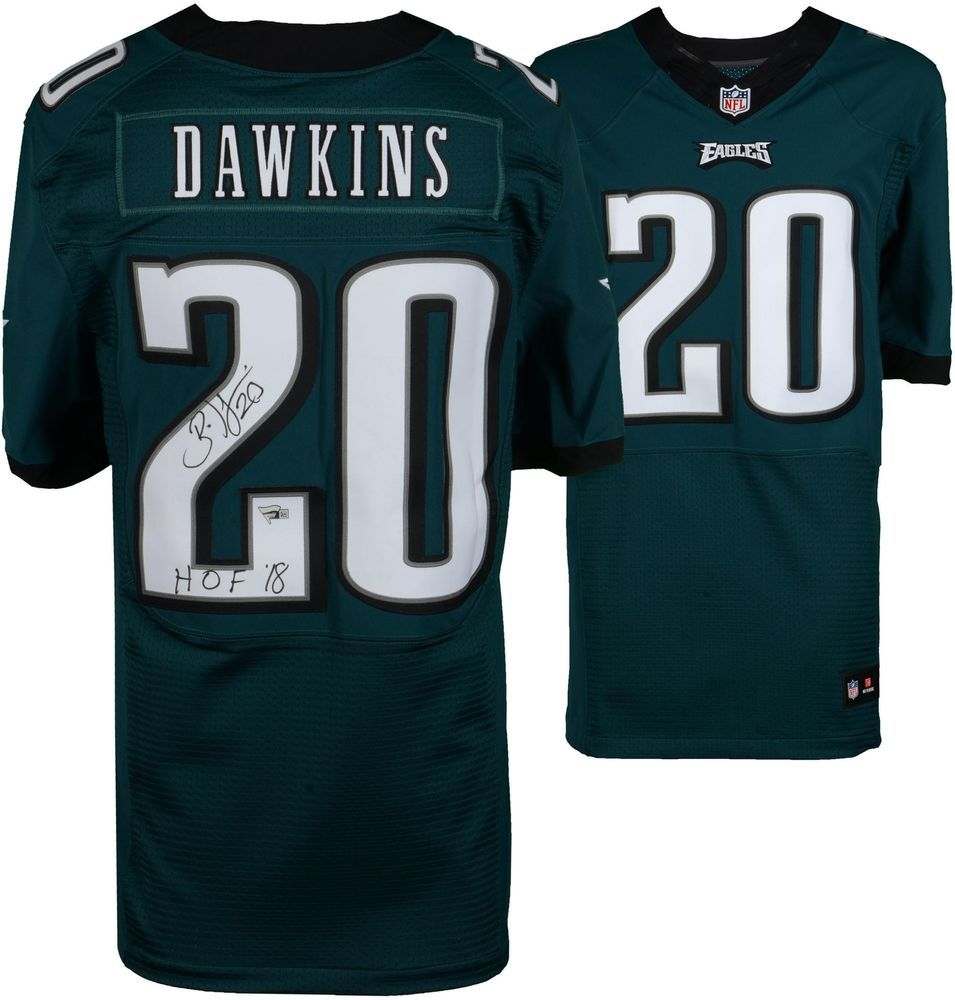 a9ee3c6f2 Brian Dawkins Philadelphia Eagles Signed Green Nike Elite Jersey   sportsmemorabilia  autograph  football