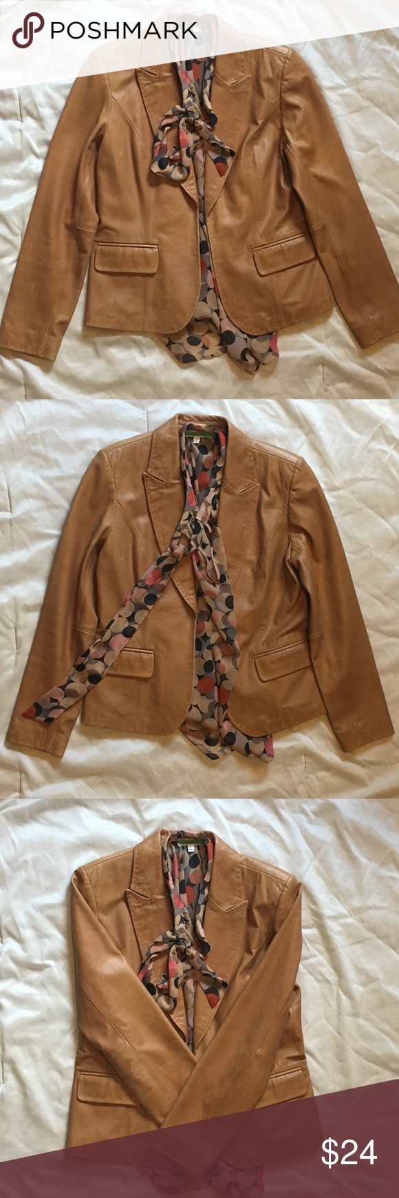 "HALLOWEEN SALE 👻 Macy's ""INC"" Leather Jacket Genuine"