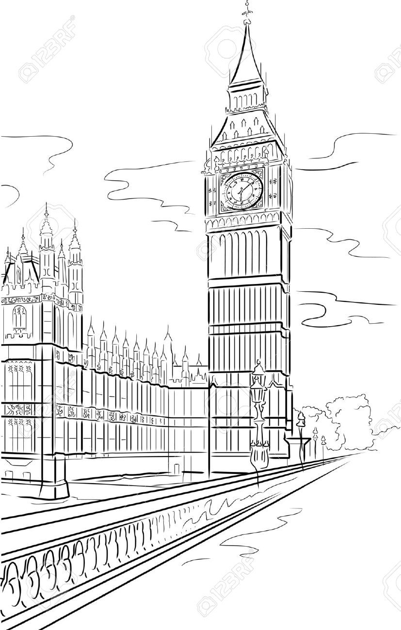 Big ben line drawing google search kid stuffs drawings big