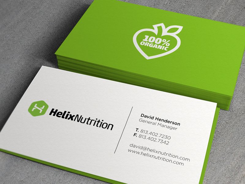 Helix Business Cards | Business cards, Stationary design and Logos