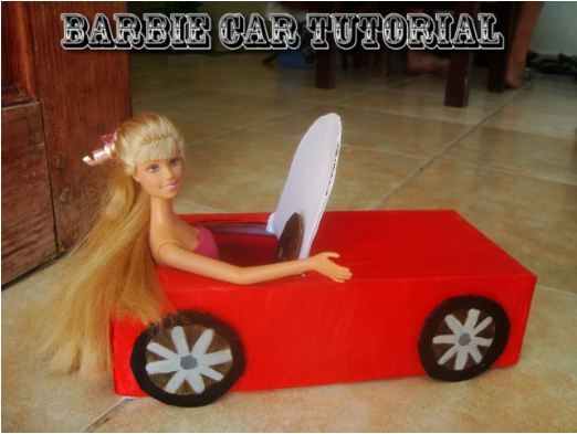 How to make an easy barbie car for kids of all ages. http ...