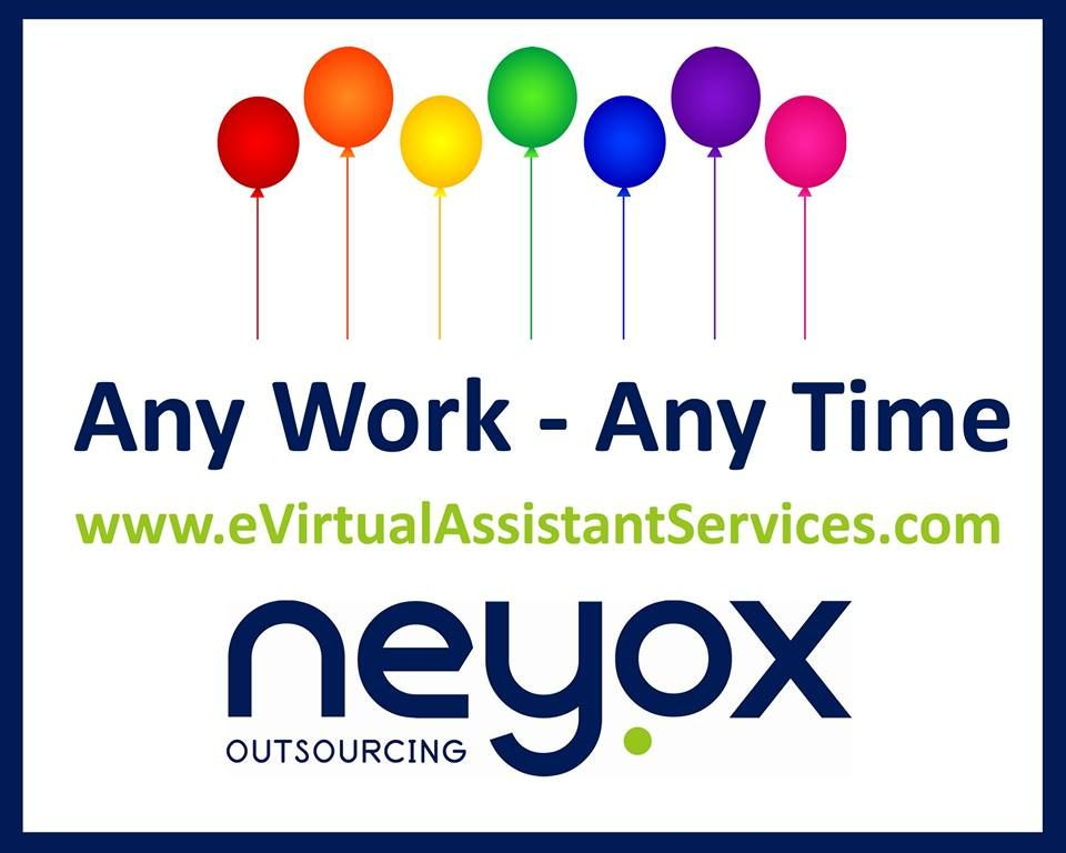 Now you can hire experienced Virtual Assistants in India at Neyox Outsourcing for a range of professions like SEO, website designing, data entry, content writing etc. Dial +1-646-568-5516 or +44-203-002-0041. Visit: Neyox Outsoucing Website