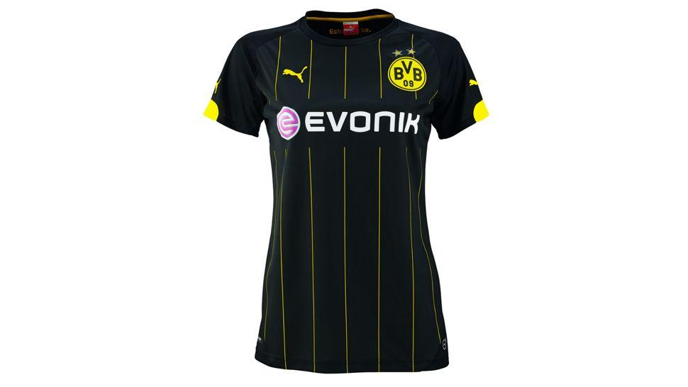 2014 15 borussia dortmund blank (or custom) away soccer shirt kit 67ca1c5be