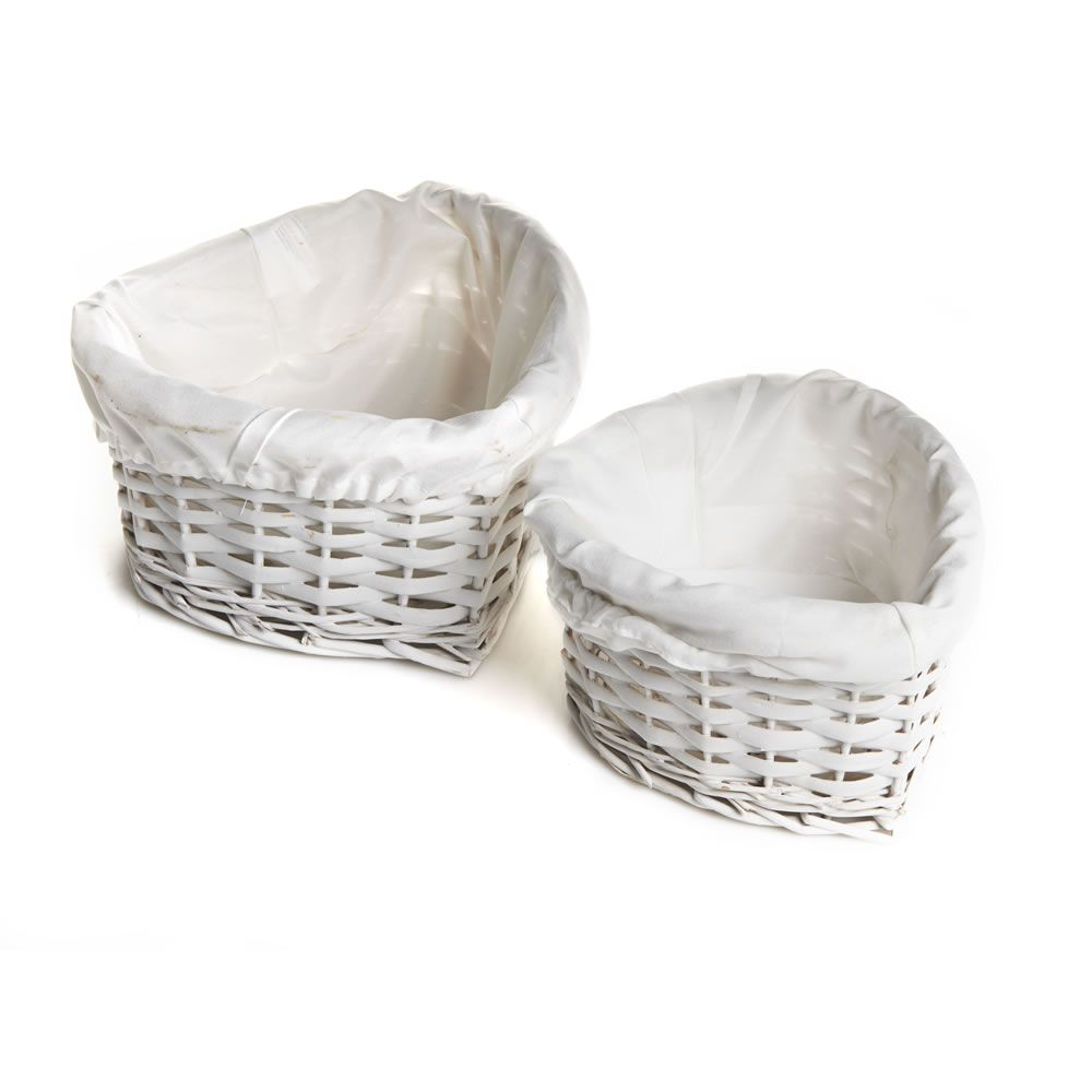 Wilko Heart Baskets White 2pk | Bathroom baskets, Home ...