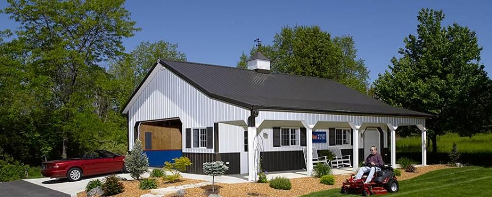 Morton buildings back to photo gallery ideas for the for Pole barn home gallery