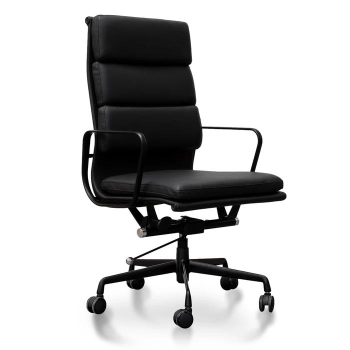 Soft Pad Executive Office Chair Eames Replica Full Black In 2020 Office Chair Executive Office Chairs Chair