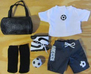 10 Piece Complete Soccer Outfit Doll Clothes for 18 Inch Dolls & American Girl by The Wishlist Store. $17.95. 6 Piece Soccer Outfit, fits 18 American Girl Dolls.. This is a 6 Piece Soccer Outfit that includes Soccer Top, Blue Shorts, 2 socks, Soccer Shoes, Sports Bag and Soccer Ball! #18inchcheerleaderclothes 10 Piece Complete Soccer Outfit Doll Clothes for 18 Inch Dolls & American Girl by The Wishlist Store. $17.95. 6 Piece Soccer Outfit, fits 18 American Girl Dolls.. This is a 6 Piece Soccer #18inchcheerleaderclothes