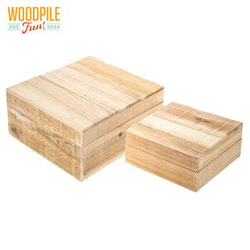 Square Wood Boxes With Lid Pallet Boxes Wood Crafts Wood Pallets
