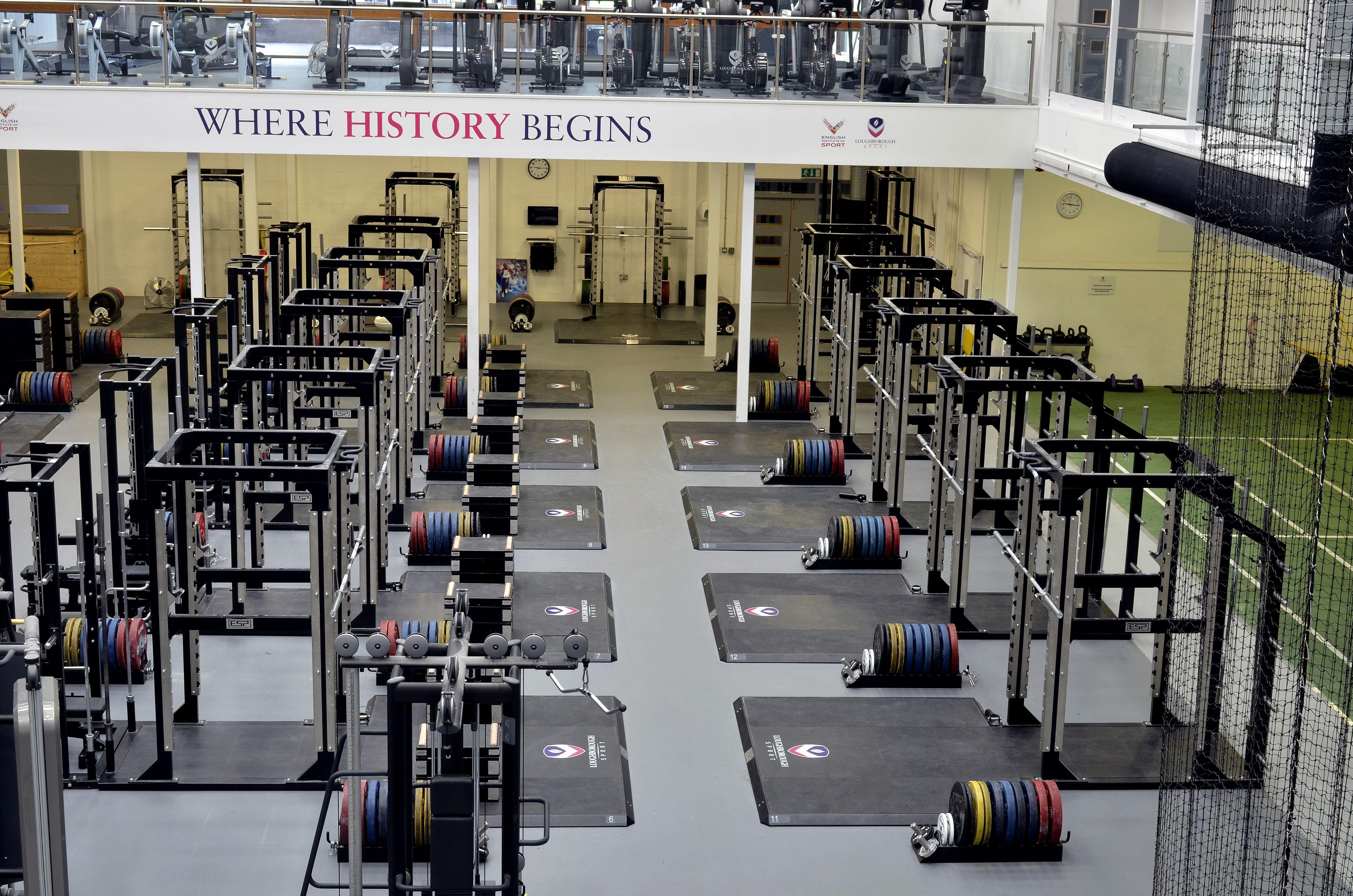 Loughborough University Gym design, Power rack, Fitness