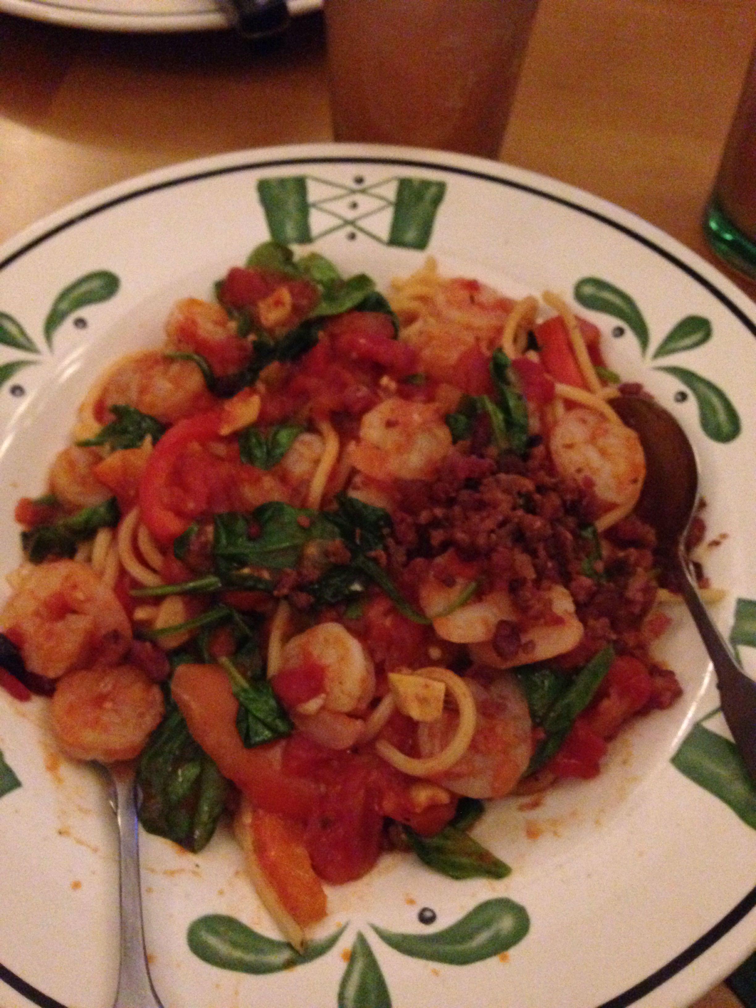 Olive Garden: spicy shrimp Vesuvio | food | Pinterest | Spicy shrimp ...