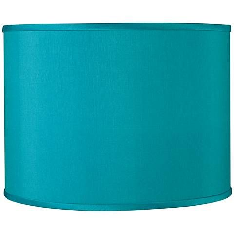 Perfect Teal Blue Faux Silk Lamp Shade 13.5x13.5x10 (Spider)
