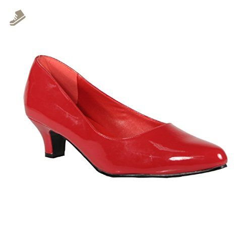2 Inch Cute Kitten Heel Women S Classic Pump Shoes Red Patent Size