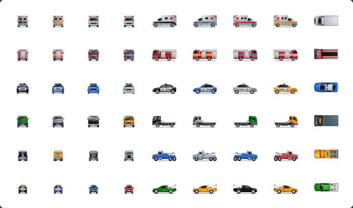 Emergency Vehicles Icons Police Car Icon Emergency Vehicles Transportation Water Crafts