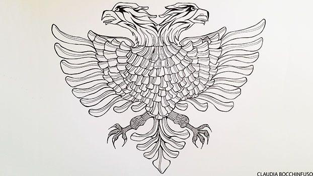 Commission Albanian Eagle Albanian Eagle Body Art Punk Tattoo
