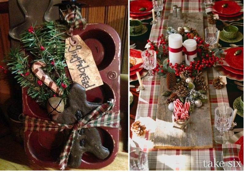 Accesorios para una Navidad rústica