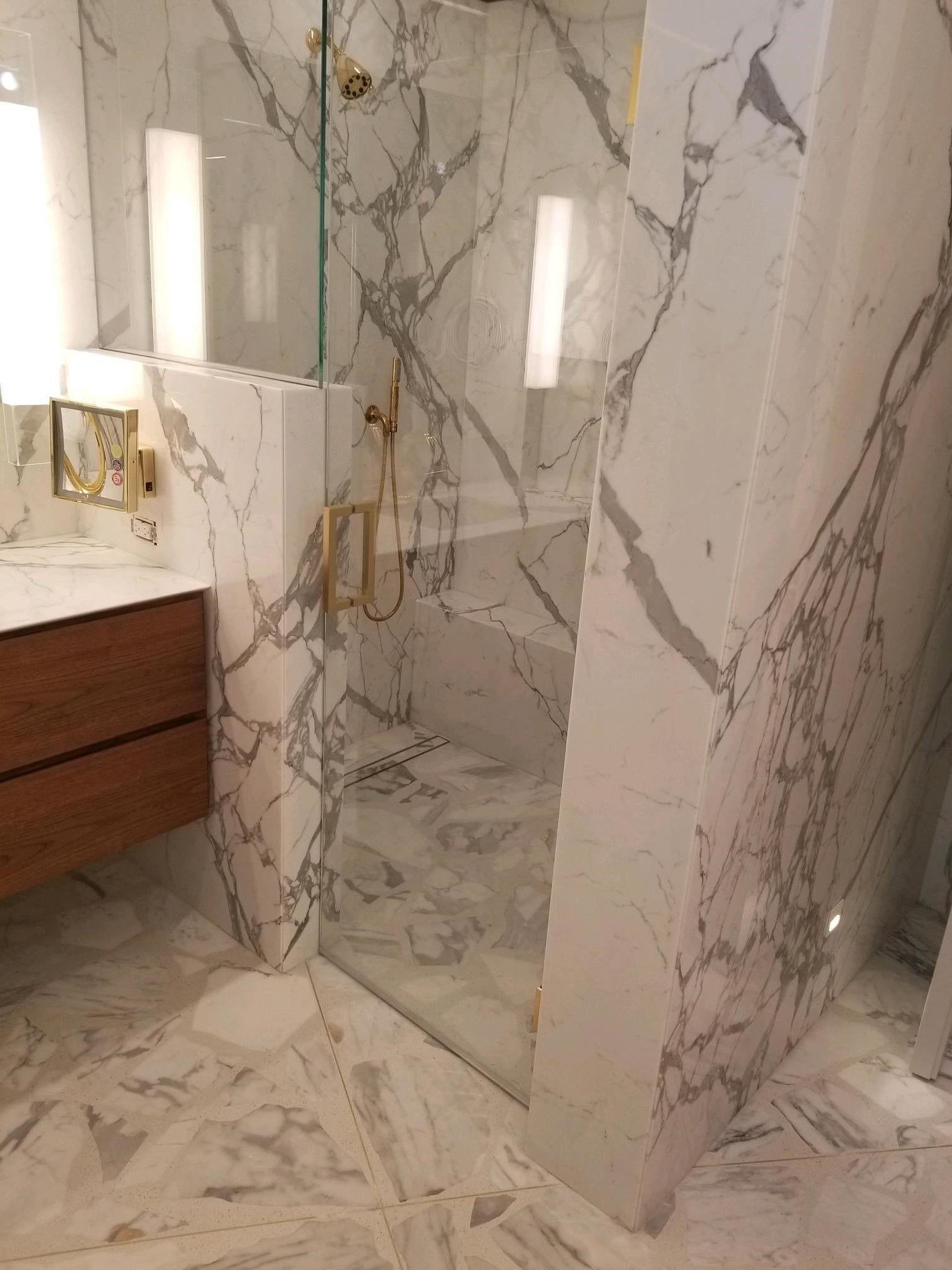 Miami Residence Showerroom With Paladiana Terrazzo Floors