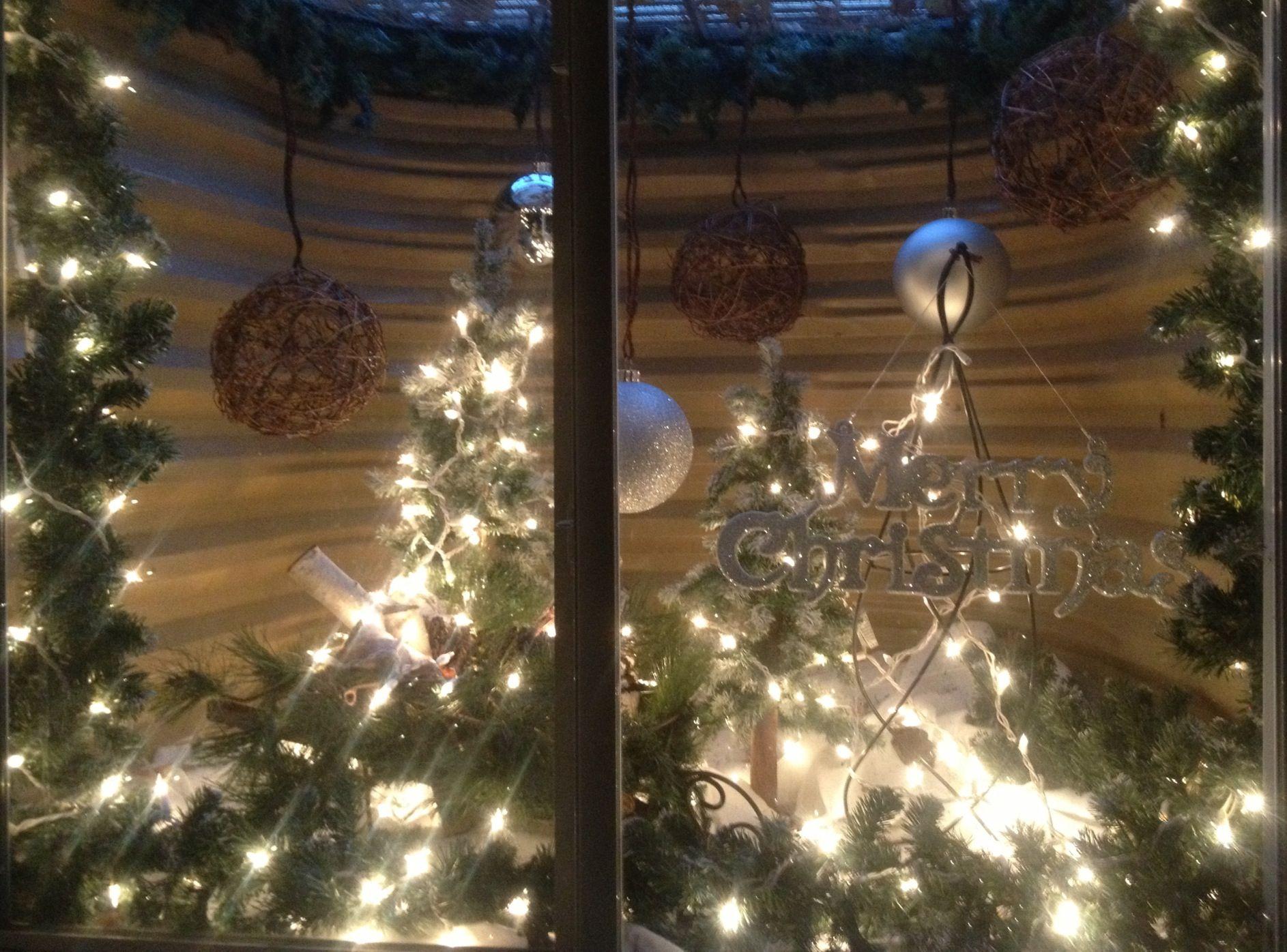 Window well decor  decorating a holiday basement window well  basement  pinterest