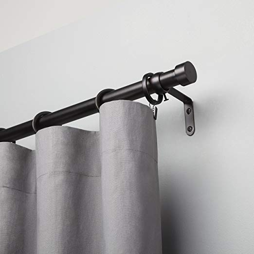 Amazon Com Umbra Cappa Curtain 1 Inch Drapery Rod Extends From 66 To 120 Inches Includes 2 Matching Finials Brac Drapery Rods Metal Curtain Rod Curtain Rods